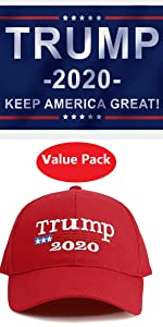 Trump hat trump flag combo pack for 2020 mike pence Donald trump flag hat