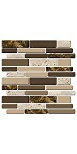 brown marble look peel and stick backsplsh tiles