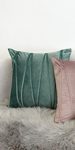 Velvet solid throw pillow covers