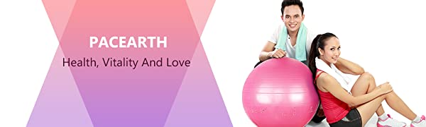 Exercise Ball  for Fitness, Stability, Balance & Yoga Workout Guide & Quick Pump Included