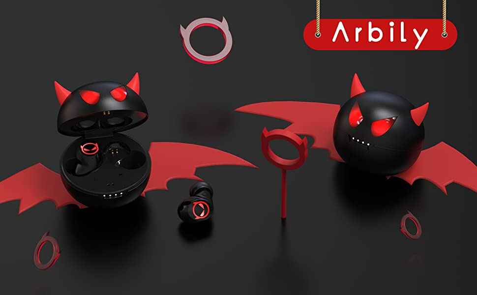 Arbily Auriculares Bluetooth Inalámbricos en la Oreja, Auriculares Inalámbricos con Perfil de Sonido Premium, Sonido AptxCancelación de Ruido CVC8.0,
