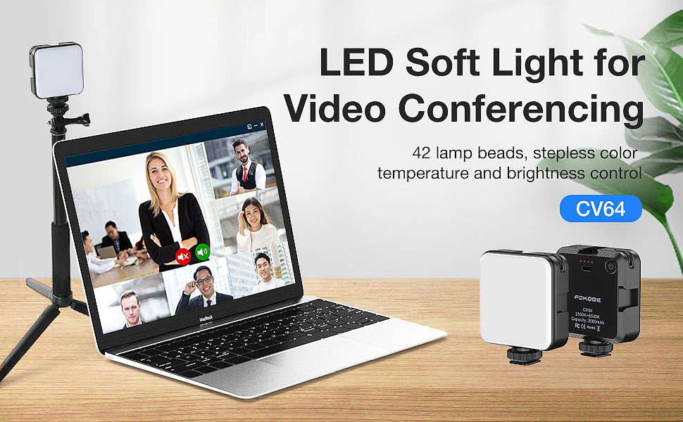 Video Conference Lighting with Selfie Stick