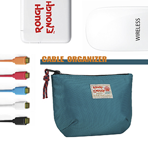 travel electronic organizer fit for kinds of cables cords power band thumb drive charger adaptor usb