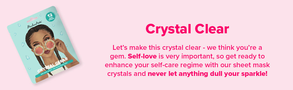 Crystal Clear Hydrating Mini Sheet Masks in Super Cute Crystal Designs