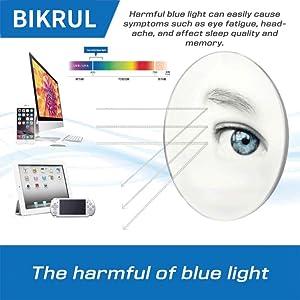 blue light glasses clear frame large