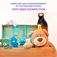 toy, toys, toy bag, toy box, teddy, baby, babies, disinfect, sanitize, antimicrobial, uv, uvc