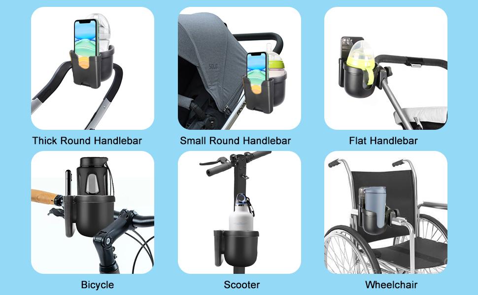 Parent Cup Holder for Stroller