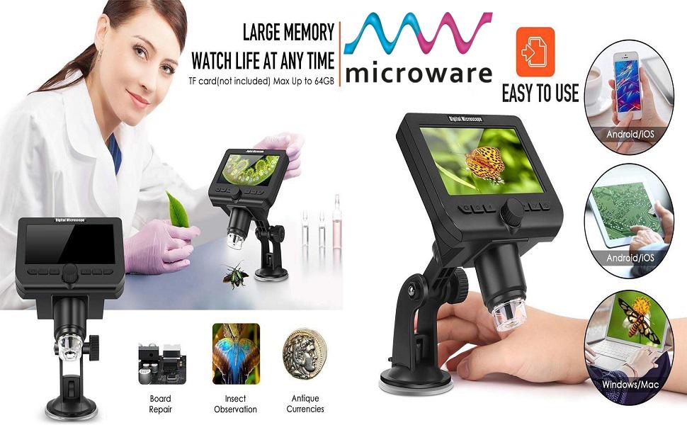 4.3 inch lcd g600 digital microscope