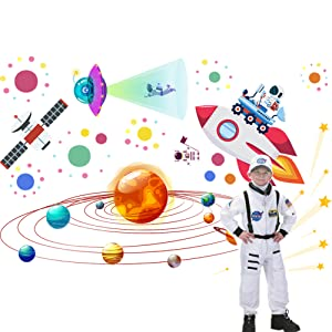 Outer Space Peel and Stick Wall Decals