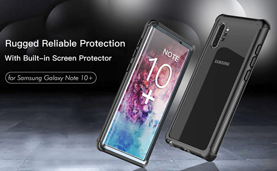 Temdan Samsung Galaxy Note 10+ Plus 5G Case,Built-in Screen Protector Full  Body Protect,Heavy Duty Dropproof Case for Samsung Galaxy Note 10+ Plus 5G
