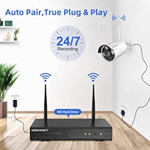 auto pair  【1TB Hard Drive Pre-installed】SMONET 1080P Wireless Security Camera System,8-Channel Full HD Wireless Home Camera System, 4pcs 2.0MP Indoor Outdoor Surveillance Cameras,P2P,Super Night Vision,Free APP 0851901e dc18 43c3 bca5 95d57161dcb8