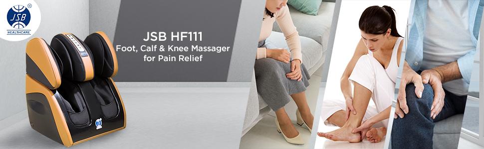 jsb hf111 foot calf knee leg massager for pain relief