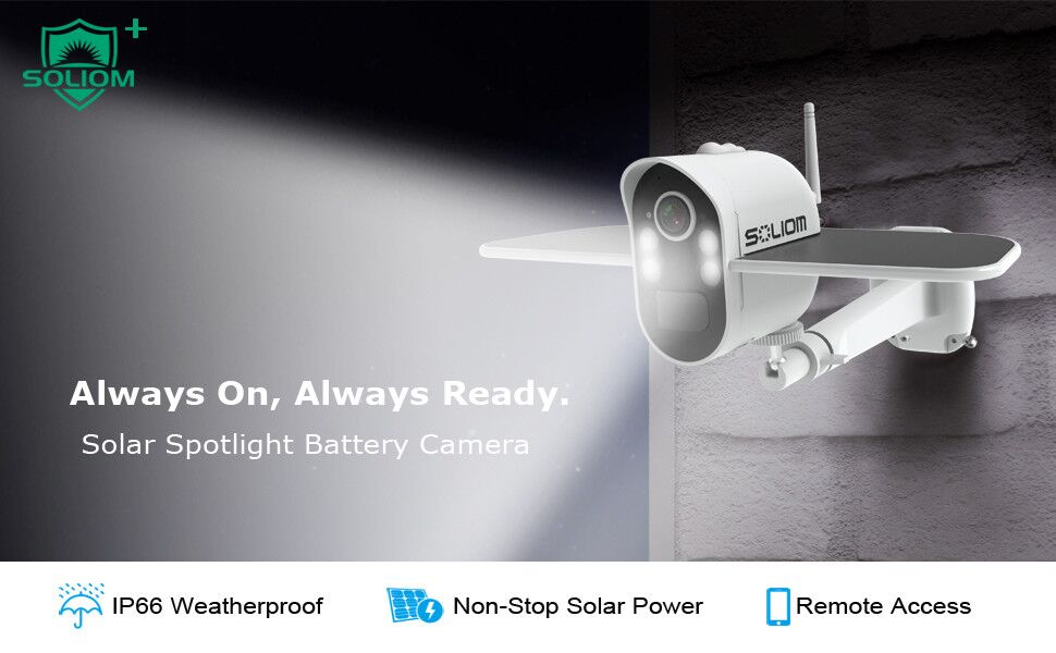 Solar Spotlight Battery Camera