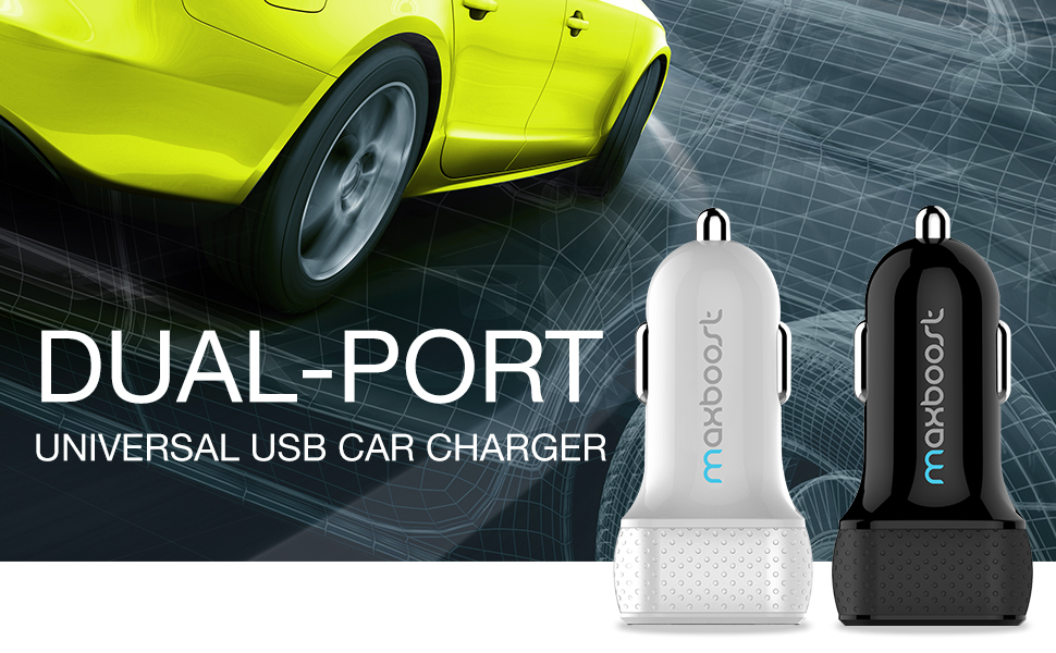 Maxboost Dual USB Cell Phone Car Charger