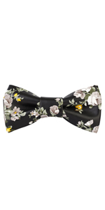 Black BowTie, Floral BowTie, Black and yellow Bowtie, Yellow and White Bowtie, Yellow Bowtie, BowTie