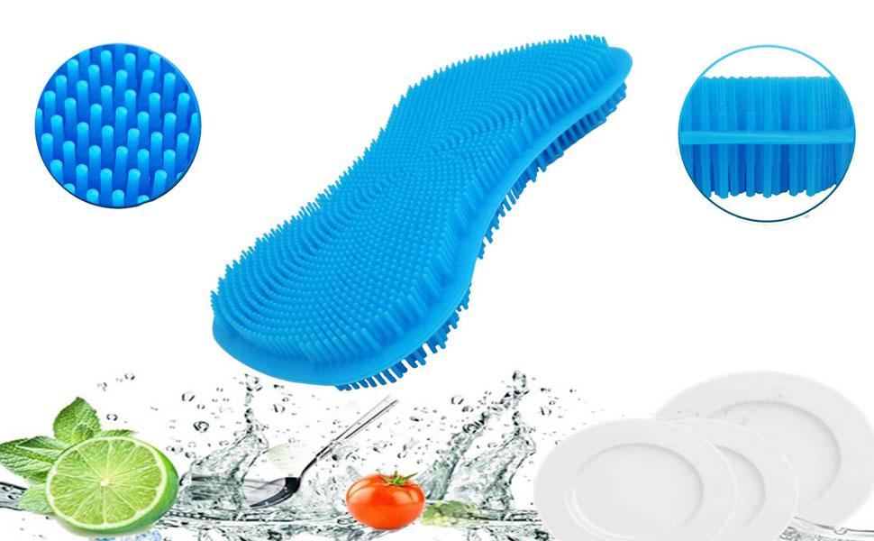 kitchen silicone dish sponge