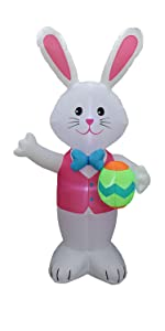 bzb goods easter inflatables decorations outdoor blow up inflatable bunny airblown decor carrot yard