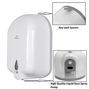 dolphy automatic hand wash sanitizer dispenser soap liquid touchless sensor wall mounted