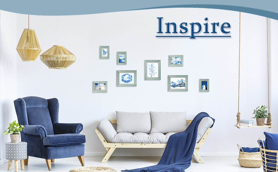 picture frame blue photo frames wall decor picture frames collage framed art photo display