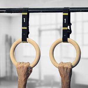 gymnastic rings wood