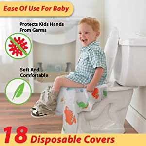 disposable toilet seat covers for kids removalble waterproof
