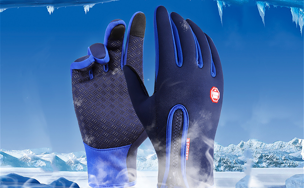 EDOTON Guantes de Pantalla Táctil para Mujer y Hombre de Invierno Caliente Guantes para Conducción Ciclismo Alpinismo Moto al Aire Libre