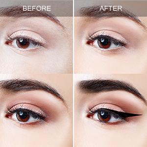 Magnetic eyelashes with magnetic eyeliner