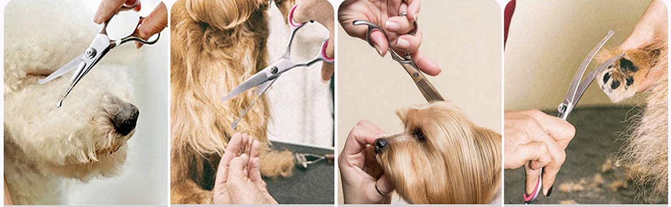 the way to use grooming scissors