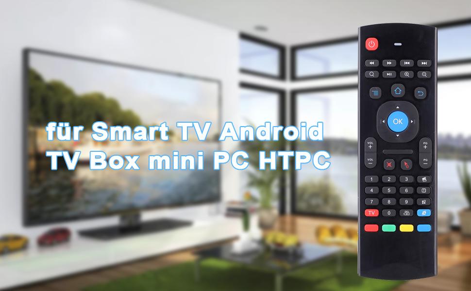 Andoer MX3 Mando a Distancia Universal Control Remoto 2.4G Aire Ratón Inalámbrico Controlador del Teclado para TV Android Smart TV de Mini HTPC PC: Amazon.es: Electrónica