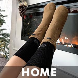 Slipper socks home fireplace cabin holiday novelty gift