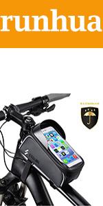 Vegena Sacoche V/élo T/él/éphone Etanche Support T/él/éphone Cadre Universel Sacoche V/élo pour Guidon de V/élo VTT Moto avec Espace Rangement Ecran Tactile Transparent pour Smartphone sous 6,5 Pouces