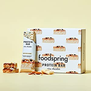foodspring Barritas De Proteína Extra Choco, Chocolate Blanco ...