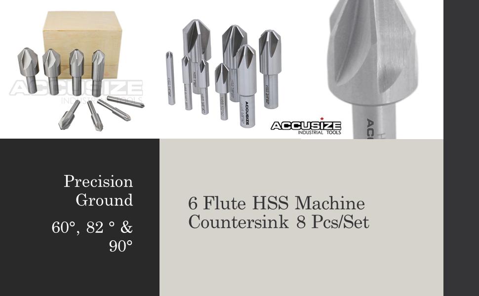 6 FLUTE H.S.S. MACHINE COUNTERSINK SET