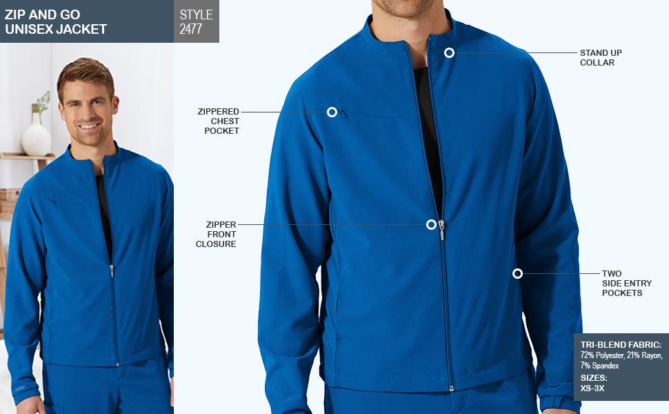 jockey style 2477 zip and go unisex jacket
