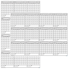SwiftGlimpse blank yearly undated wall calendar dry erase large laminated perpetual planner