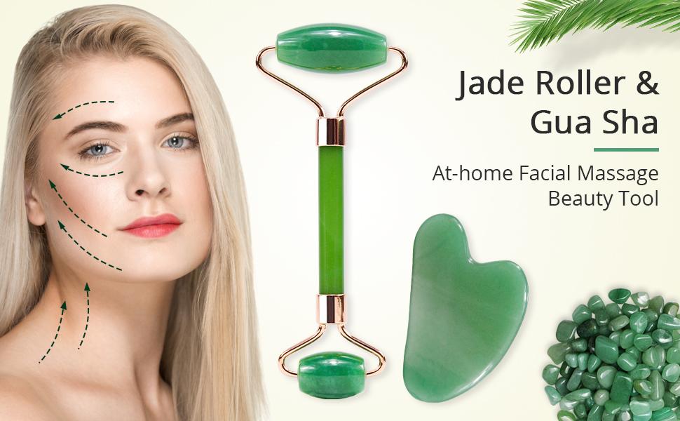 jade roller and Guasha