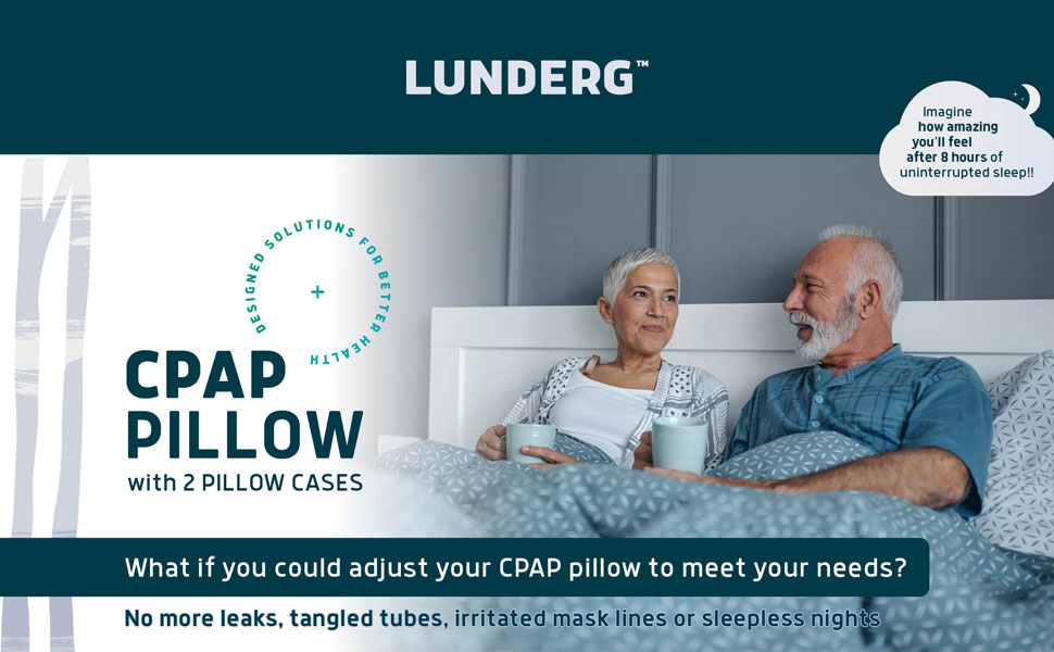 CPAP pillow with 2 pillow cases