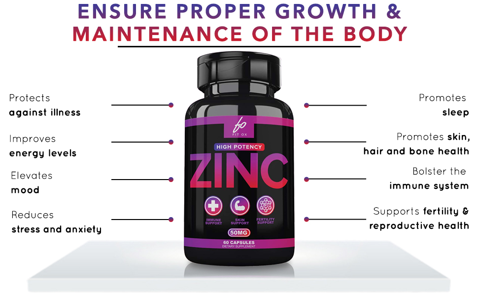 Our zinc supplement ensures better growth and maintenance of the body