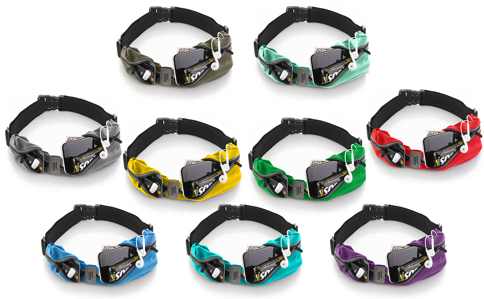 Sport2People Running belt is available in 9 colors.