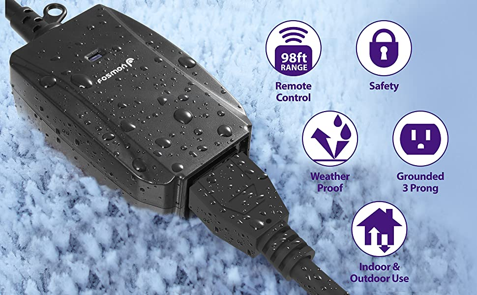 indoor outdoor wireless outlet with remote control