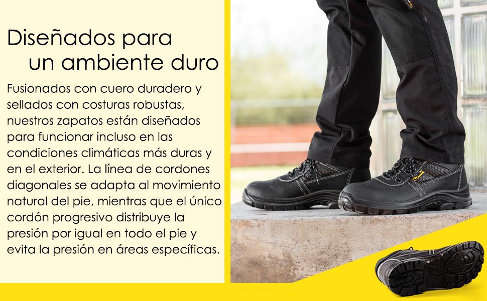 Zapatos de seguridad para hombres con suela antideslizante y de tracción