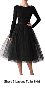 High Waist Short A-line Layers Party Tulle Skirt