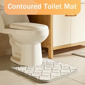 Contoured Toilet Mat