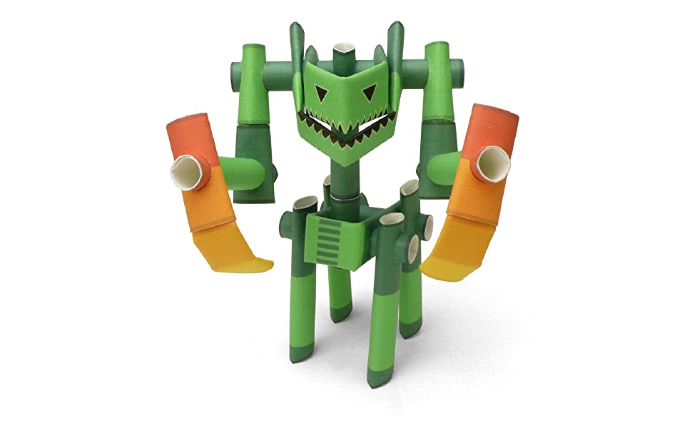 Old Package PIPEROID Captain Drill /& Repeat Paper Craft Robot kit from Japan Pirate /& His Partner