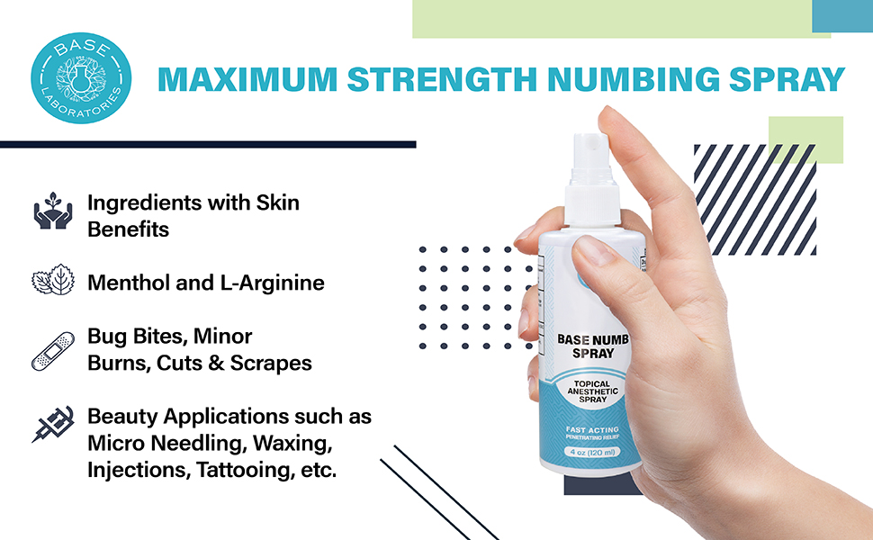 strength hush gel  anesthetic numbing spray cold waxing piercing tattoo numb best maximum