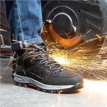 Safety Boots Men Women Lightweight Steel Toe Cap Boots Work Trainers