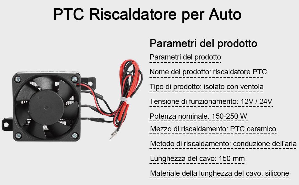 12//24V AUTO Ptc Ventilatore Riscaldatore di aria a temperatura costante Elemento Riscaldante Riscaldamento