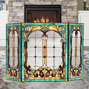 tiffany fireplace grate