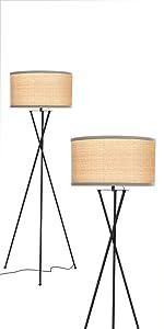 Brightech Jaxon - Mid Century Modern Tripod Floor Lamp for Living Room