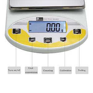 CGOLDENWALL Balanza de Precisión Eléctrica 0.1g Báscula Análitica ...
